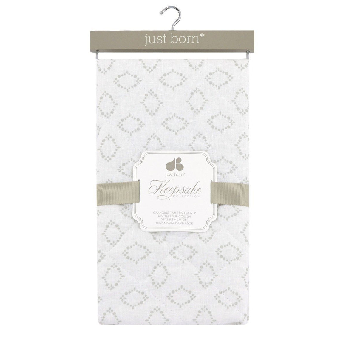 Just Born Keepsake Collection Quilted Changing Pad Cover-Nursery Décor-Babysupermarket