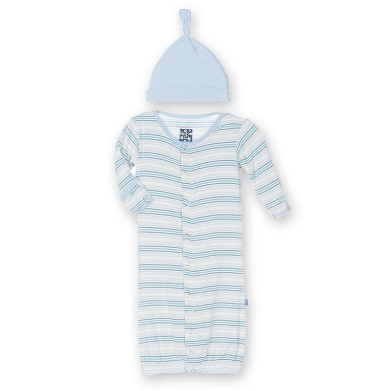Kickee Pants Layette Gown and Hat Set