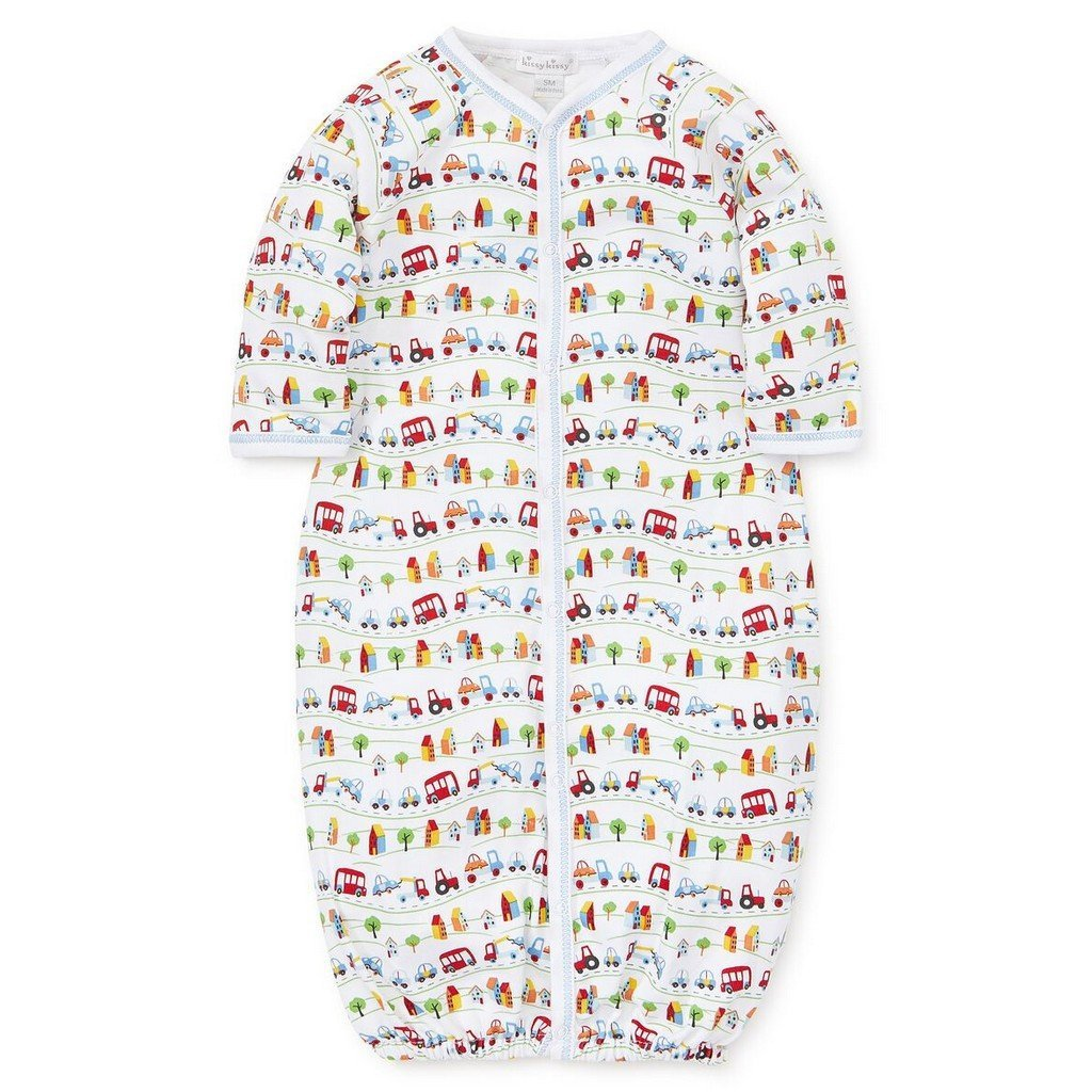 Kissy Kissy Boy Sleepwear 0/3 / White Kissy Kissy Boys Traffic Infant Boy Convertor Gown