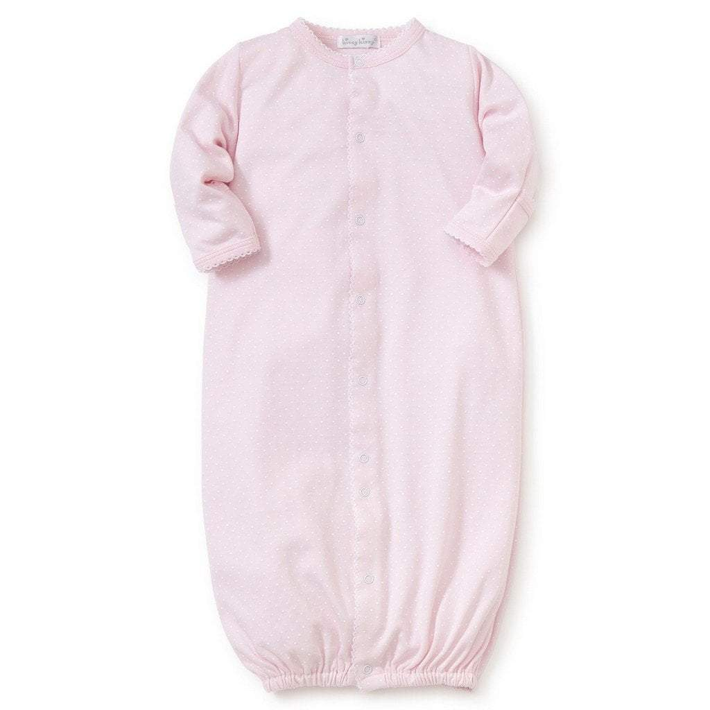 Kissy Kissy Infant Apparel Preemie / Pink Kissy Kissy Dot Convertible  Pink Newborn Gown