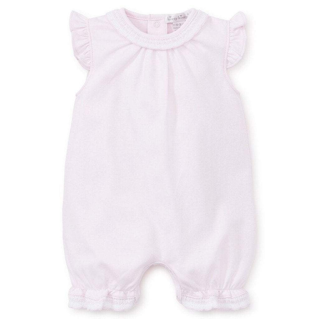 Kissy Kissy Girls Apparel 3/6M / Pink Kissy Kissy Girl Pink Baby Homecoming Short Playsuit