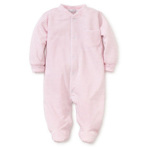 Kissy Kissy Infant Apparel Preemie / Pink Kissy Kissy Pima Cotton Simple Stripes Baby Girl Footie