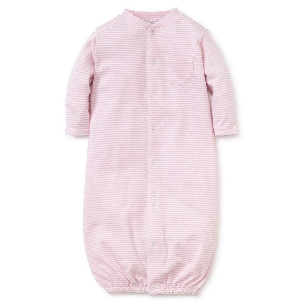 Kissy Kissy Infant Apparel Preemie / Pink Kissy Kissy Pink Simple Stripes Convertible Gown