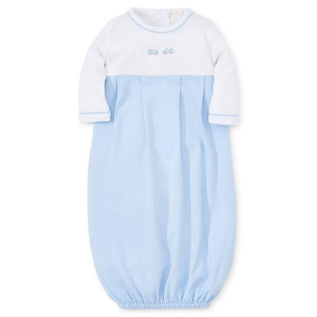 Kissy Kissy Infant Apparel Newborn / Blue Kissy Kissy Toys with Hand Embroidery Newborn Boy Sack Gown