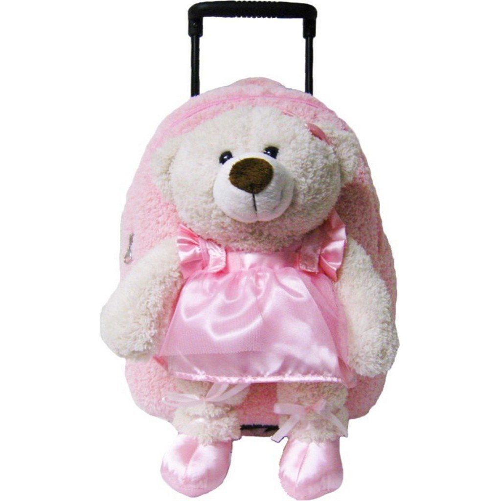 Kreative Kids Toys Kreative Kids Ballet Bear Plush Animal Roller Bag