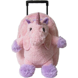 Kreative Kids Toys Kreative Kids Pink Unicorn Plush Animal Roller Bag