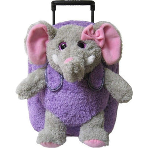 Kreative Kids Toys Kreative Kids Purple Elephant Plush Animal Roller Bag
