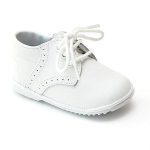 LAMOUR Shoes Baby 1 / White L'Amour Angel Lace Up Baby or Toddler Walking Shoe White