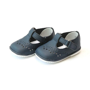 LAMOUR Shoes 2 / Navy L'Amour Angel T-Strap Baby or Toddler Girls Walking Shoe Navy