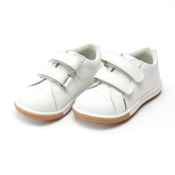 LAMOUR Shoes Toddler 4 / White L'Amour Boy Double Strap Toddler Sneaker Shoe White