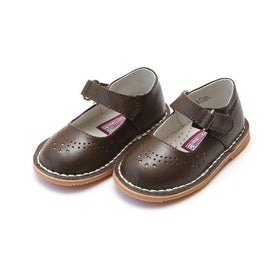 LAMOUR Shoes Toddler 6 / Brown L'Amour Girls Toddler or Kids Classic Brown Leather Mary Jane Shoe