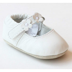 LAMOUR Shoes Infant 0 / White L'Amour Infant Girls White Trio Flower Mary Jane Shoes