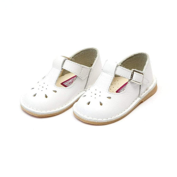 LAMOUR Shoes Toddler 5 / White L'Amour Toddler Girls or Kids White Leather T-Strap Shoe