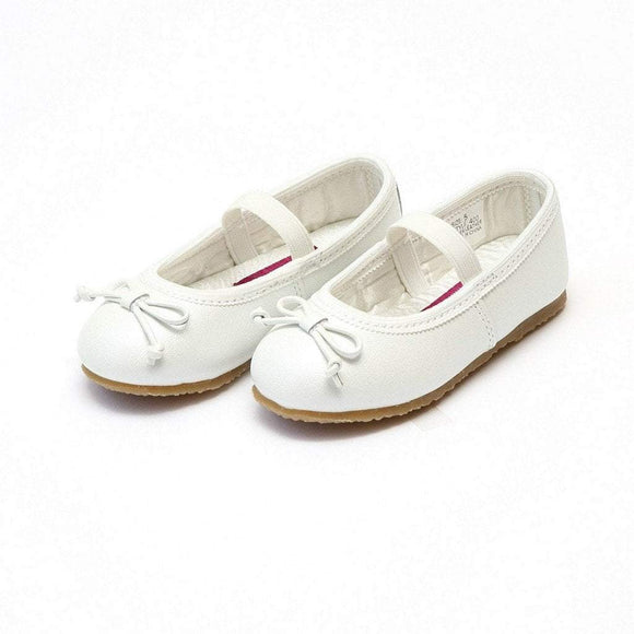 LAMOUR Shoes Toddler 5 / White L'Amour Toddler or Kid Ballet Flat Shoe White