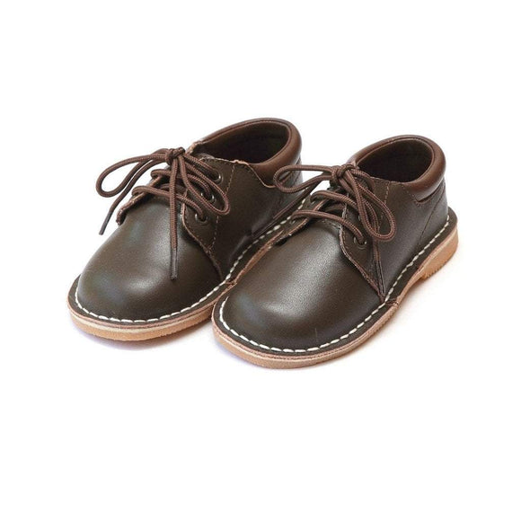 LAMOUR Shoes Kid 1 / Brown L'Amour Toddler or Kid Boy Brown Leather Lace Up Shoe