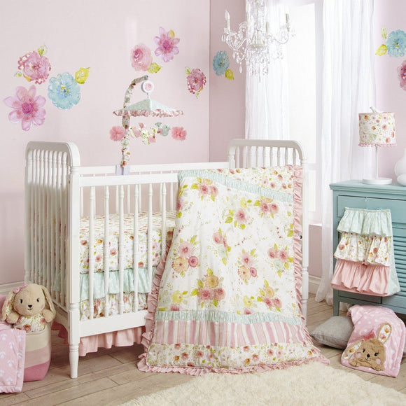 Lambs and Ivy Nursery Decor Lambs and Ivy Sweet Spring 4-Piece Crib Bedding Set