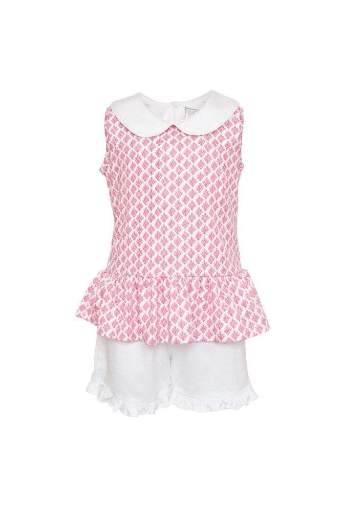 Lila and Hayes Apparel Lila and Hayes Landry Peplum Top and Short Set