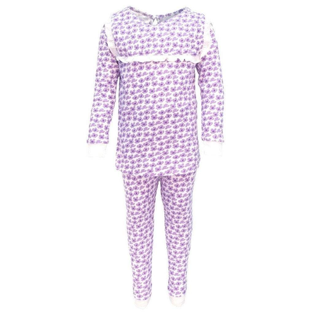 Lila and Hayes Apparel Lila & Hayes Taylor Falling Flowers Girls 2 PC Pajama Set