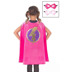 Little Adventures Toys Little Adventures Pink Hero Cape & Mask Set