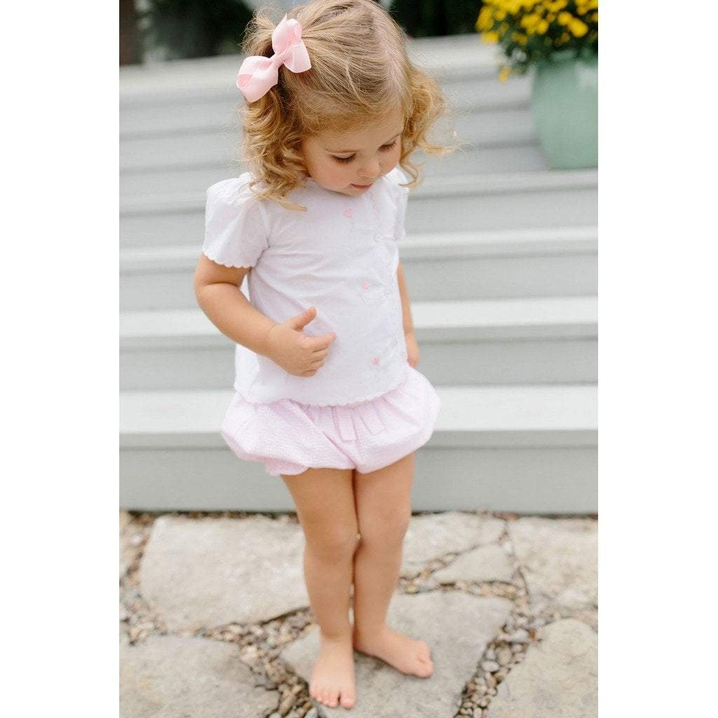 Little English Apparel 2T Little English Tulip Tea Blouse and Bow Bloomer Set