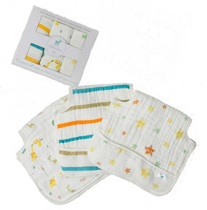 Little Fawn Baby Care Little Fawn 3 pack Muslin Waterproof Burp Cloths