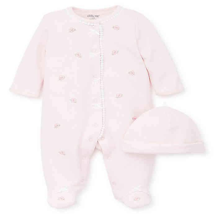 Babysupermarket Little Me Blossom Pink Footie and Hat