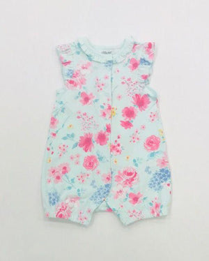 Little Me Apparel 3 MO / Pink Little Me Watercolor Romper