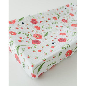 Little Unicorn Nursery Decor Little Unicorn Cotton Muslin Changing Pad Cover Summer Poppy