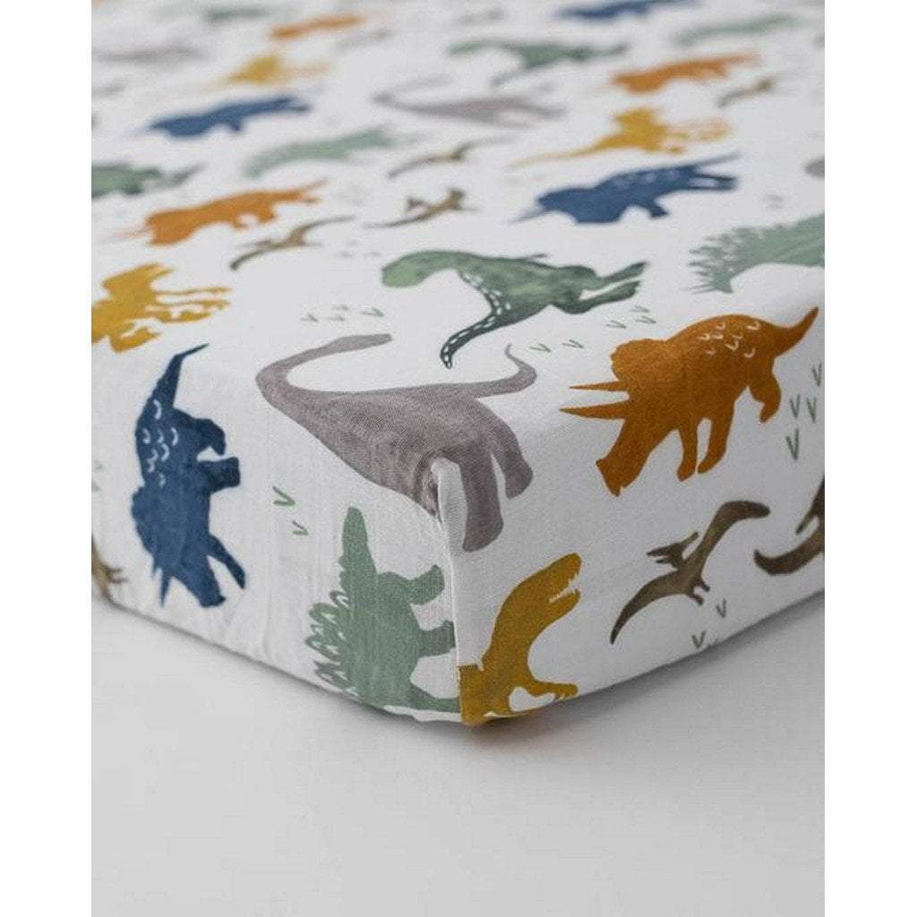 Little Unicorn Nursery Decor Little Unicorn Cotton Muslin Crib Sheet Dino Friends