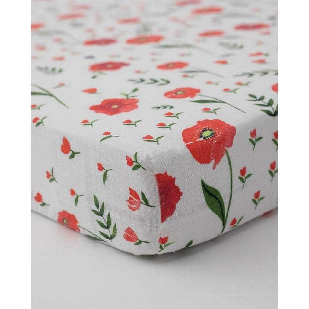 Little Unicorn Nursery Decor Little Unicorn Cotton Muslin Crib Sheet Summer Poppy
