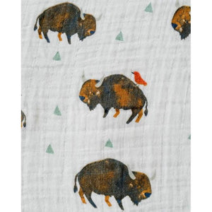 Little Unicorn Little Unicorn Cotton Muslin Swaddle Blanket Bison
