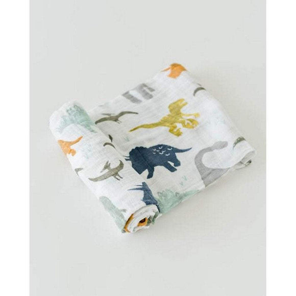 Little Unicorn Nursery Decor Little Unicorn Cotton Muslin Swaddle Blanket Dino Friends