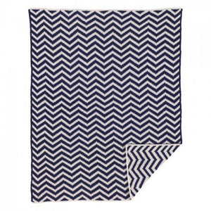 Living 63 Nursery Decor Living 63 Navy Chevron Blanket