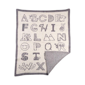 Lolli Living My First Alphabet Knitted Fuzzy Blanket-Nursery Décor-Babysupermarket