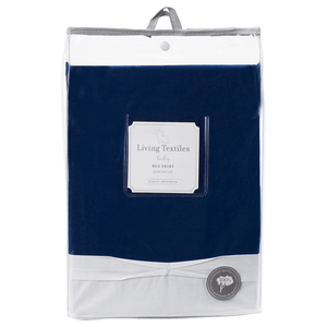 Living 63 Crib Navy Dust Ruffle-Nursery Decor-Babysupermarket