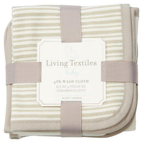 Living 63 Baby Care Grey Living Textiles Baby 4 Pack Wash Cloth Set