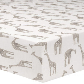 Liz & Roo Nursery Decor Liz and Roo Taupe Giraffe Crib Sheet