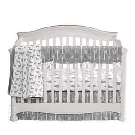 Liz and Roo Woodland Gray Baby Crib 4 PC Bedding Set-Nursery Decor-Babysupermarket