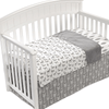 Liz & Roo Nursery Decor Liz and Roo Woodland Gray Baby Crib 4 PC Bedding Set