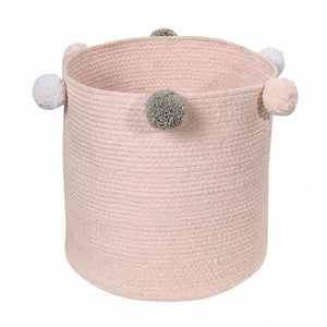 Lorena Canals Nursery Décor Lorena Canals Cotton Bubbly Basket Pink