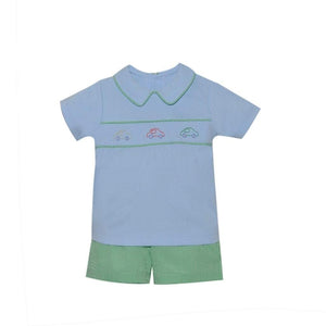 Lullaby Set Boy Apparel 2T / Blue/Green Lullaby Set Christopher Boy's Car Short Set