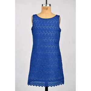 Maggie Breen Girls Apparel 16 / Blue Maggie Breen Girls Blue Eyelet Dress