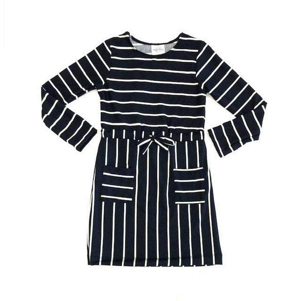 Maggie Breen Apparel 8 / Navy Maggie Breen Knit Dress, Navy Stripe