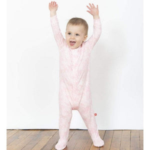 Magnificent Baby Apparel Magnetic Me Pink Doeskin Footie