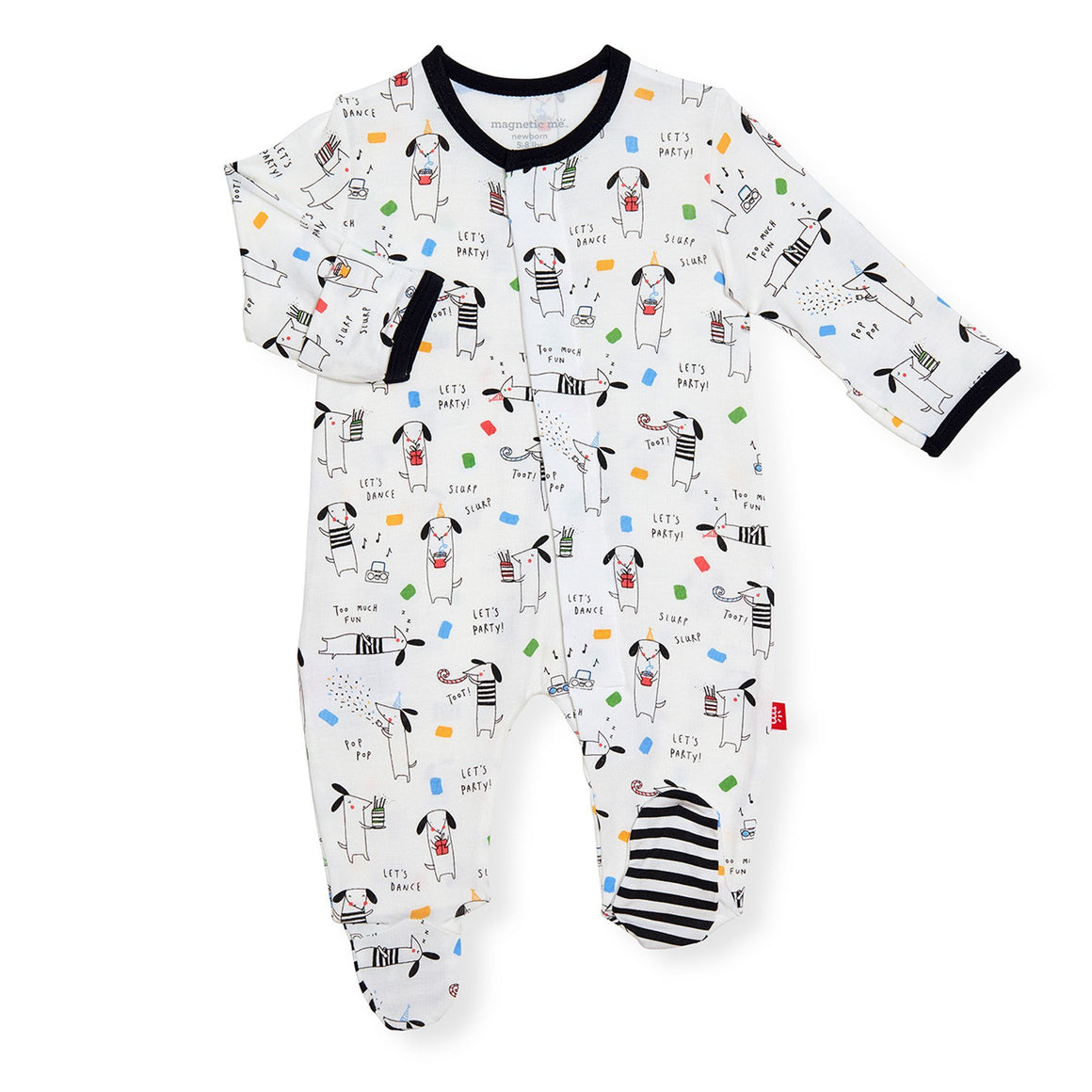 Magnificent Baby Apparel 9-12 Mo / Raise The Woof Magnetic Me Raise The Woof Modal Footie