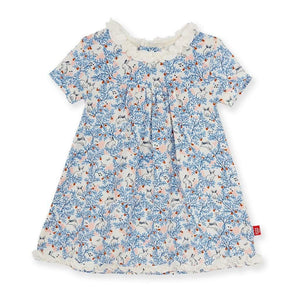 Magnetic Me Apparel 2 Toddler / Somebunny Floral Magnetic Me's Somebunny Floral Modal Magnetic Dress