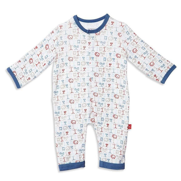 Magnificent Baby Infant Apparel 3-6 Month / Multi Magnificent Baby A Star is Born Modal Magnetic Infant Coverall