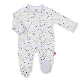 Magnificent Baby Infant Apparel 0-3M / Purple Magnificent Baby Fieldston Cotton Magnetic Infant Footie
