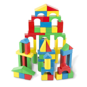 Melissa & Doug 100 Wood Blocks Play Set-Toys-Babysupermarket