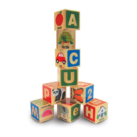 Melissa & Doug ABC 123 Wooden Blocks Set-Toys-Babysupermarket